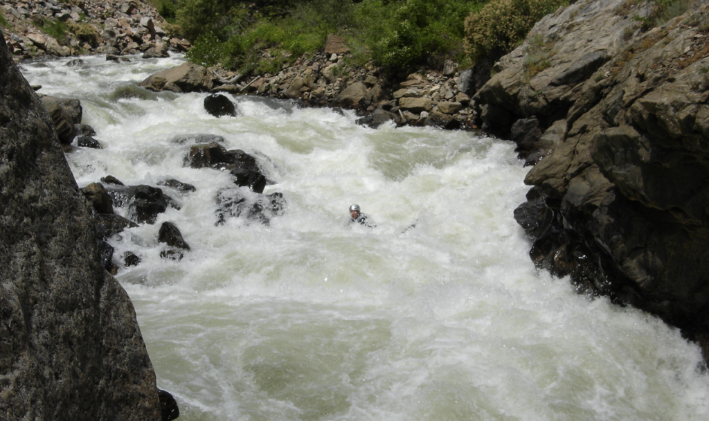 Whitewater Rapid on Clear Creek River in Colorado